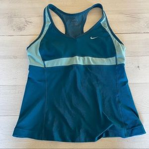 Nike Fit-Dry Teal Blue Athletic Tank Top Women's
